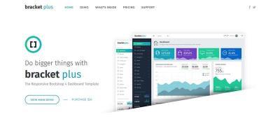 Bracket Plus Responsive Bootstrap 4 Admin Dashboard Template