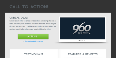 Call To Action — Professional Landing Page