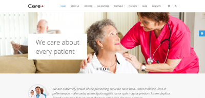 Care - Medical and Health Blogging WordPress Theme