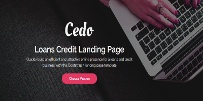 Cedo - Loans Credit Landing Page Template