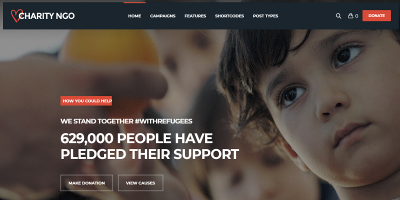 Charity NGO - Donation & Nonprofit NGO Charity WordPress Theme