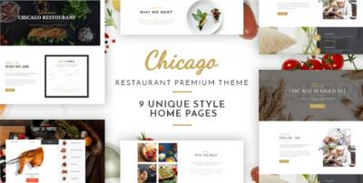 Chicago - Complete Multi-Purpose Restaurant Theme
