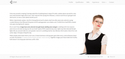 Civi - Responsive One Page CV Template