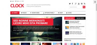 Clock - WooCommerce WordPress theme