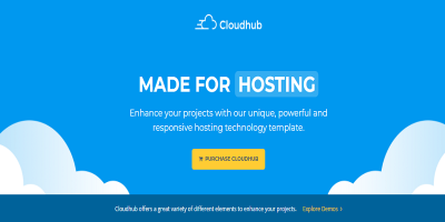 Cloudhub Hosting and Technology HTML Template