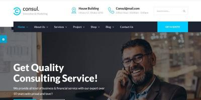 Consul - Business Consulting and Professional Services HTML Template