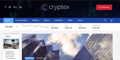 Cryptex - Cryptocurrency WordPress Theme