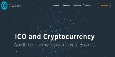 Cryption - ICO Landing, ICO Consulting, Cryptocurrency & Blockchain WordPress Theme