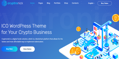 Cryptronick - WordPress Theme for ICO & Cryptocurrency Business