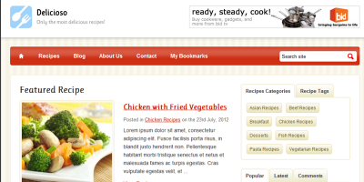 Delicioso WordPress Recipe Theme