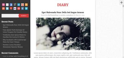 Diary - Pixel-Perfect WordPress Theme