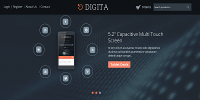 Digita - WooCommerce Parallax Theme