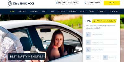 Driving School - WordPress Theme