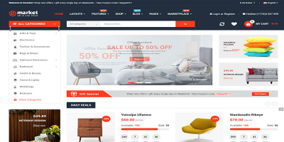 eMarket - Multi-purpose MarketPlace OpenCart 3 Theme (20+ Homepages & Mobile Layouts Included)