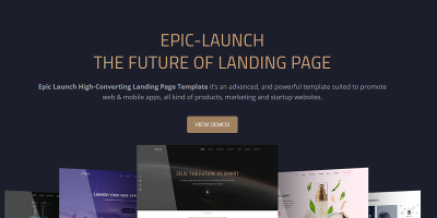 Epic Launch High-Converting Landing Page Template