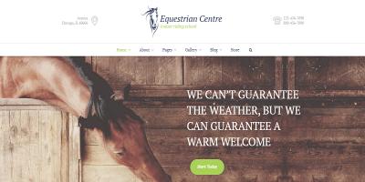 Equestrian Centre & Horse-riding School WP Theme