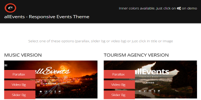 Events, Conference, Tourism, Music, Sport - all Events Theme