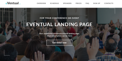 Eventual - Event & Conference Landing Page