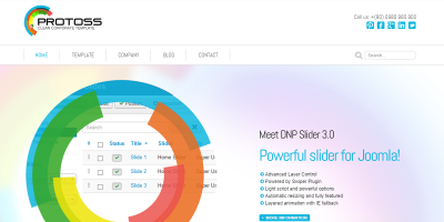 Protoss Clean Corporate Template For Joomla!