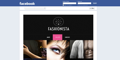 Fashionista - Adaptive HTML Facebook Template