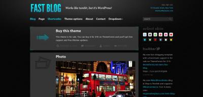 Fast Blog - WordPress Theme