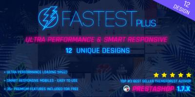 Fastest Plus - Smart Responsive PrestaShop 1.7 , Fashion,Shopping,Grocery - Multi Purpose(12 Homes)