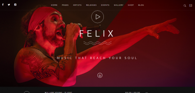 Felix - Responsive Music, Event WordPress Theme
