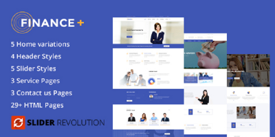 Finance + Business and Finance Corporate HTML5 Template