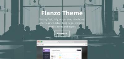 Flanzo - Flat Responsive Portfolio