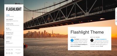 Flashlight - fullscreen background portfolio theme