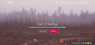 Flat UI Startup Bootstrap template