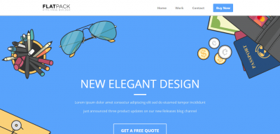 FLATPACK – Landing Pages Pack With Page Builder
