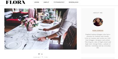 Flora - Responsive Tumblr Theme