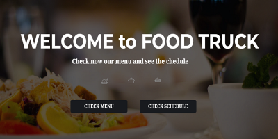 Food Truck –  Restaurant Responsive WordPress Theme