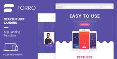 Forro - Mobile App Landing Template