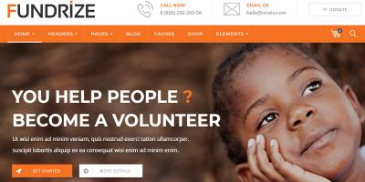 Fundrize - Responsive Donation & Charity WordPress Theme