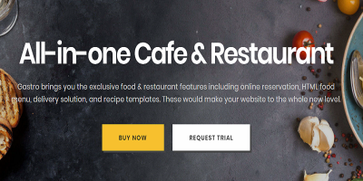 Gastro - Multipurpose Cafe & Restaurant WordPress Theme