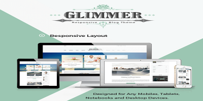 Glimmer - A Responsive Ghost Blog Theme