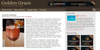 Golden Grace for Blogger