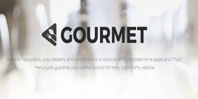 Gourmet - Restaurant And Gastronomy Theme