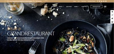Grand Restaurant - Restaurant Cafe Theme