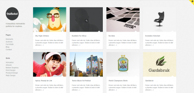 Gridlocked- Minimalistic WordPress Portfolio Theme