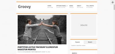 Groovy - Responsive WordPress Blog Theme