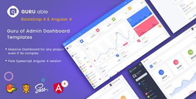 Guru Able Bootstrap 4 Admin Dashboard Template & Angular 4 Starter Kit