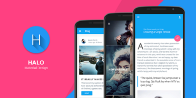 Halo - Material Design Mobile Template
