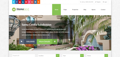Homeland - Real Estate WordPress Theme