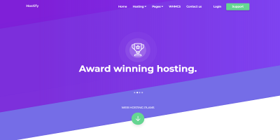 Hostify — Hosting HTML & WHMCS Template
