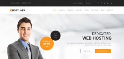 Hostlinea - Web Hosting, Responsive WP Theme