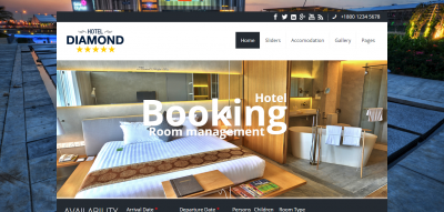 Hotel Diamond - Drupal Hotel Booking Theme