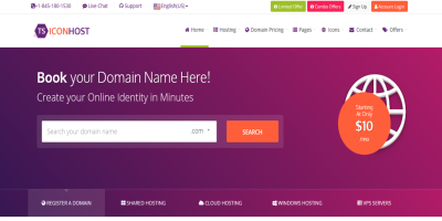 ICONHOST Amazing HTML Responsive Web Hosting Template